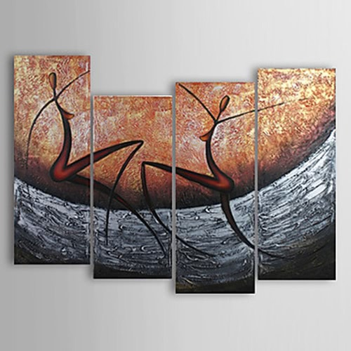 4Pcs Hand-painted Oil Painting Set Modern Abstract Picture Decorative Art for Home Living Room Bedroom Office Hotel DecorationHome &amp; Garden<br>4Pcs Hand-painted Oil Painting Set Modern Abstract Picture Decorative Art for Home Living Room Bedroom Office Hotel Decoration<br>