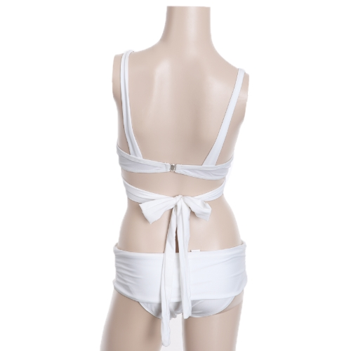 Sexy Bikini Set Swimwear Swimsuit Beachwear Bandeau Underwire Cups Push-up Padded Wrap-around Band Skirted Bottom WhiteApparel &amp; Jewelry<br>Sexy Bikini Set Swimwear Swimsuit Beachwear Bandeau Underwire Cups Push-up Padded Wrap-around Band Skirted Bottom White<br>