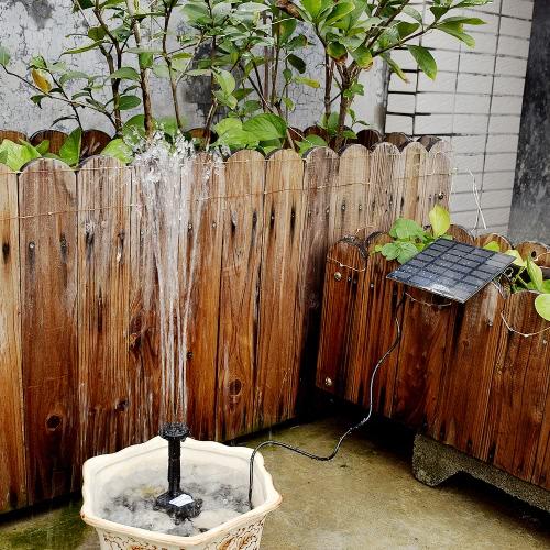 Anself Solar Power Fountain Pool Pompe à eau Plantes de jardin Ensemble d'arrosage