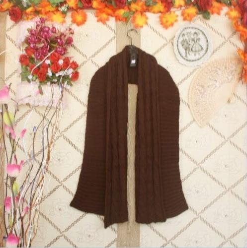 Korean Stylish Women Men Lady Scarf Knitted Long Warm Wrap Shawl Unisex CoffeeApparel &amp; Jewelry<br>Korean Stylish Women Men Lady Scarf Knitted Long Warm Wrap Shawl Unisex Coffee<br>