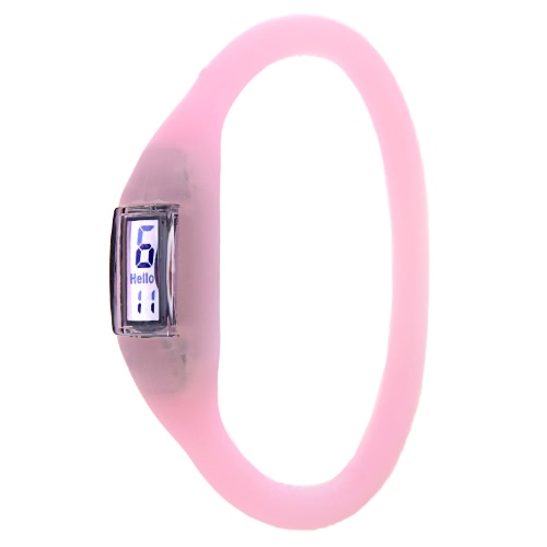 Silicone Rubber Anion Sports Bracelet Wrist Watch PinkApparel &amp; Jewelry<br>Silicone Rubber Anion Sports Bracelet Wrist Watch Pink<br>