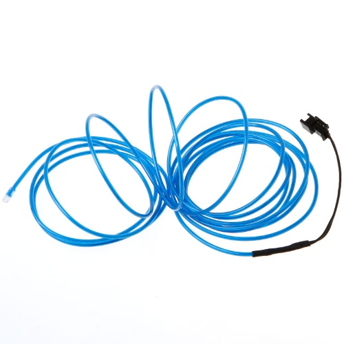 3M Blue Flexible Neon Light EL Wire Rope Tube with ControllerHome &amp; Garden<br>3M Blue Flexible Neon Light EL Wire Rope Tube with Controller<br>