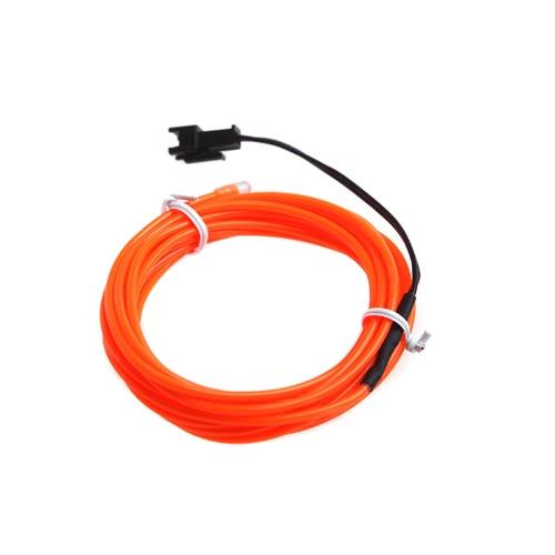 3M Orange Flexible Neon Light EL Wire Rope Tube with ControllerHome &amp; Garden<br>3M Orange Flexible Neon Light EL Wire Rope Tube with Controller<br>