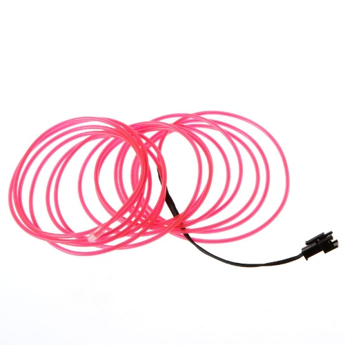 3M Pink Flexible Neon Light EL Wire Rope Tube with ControllerHome &amp; Garden<br>3M Pink Flexible Neon Light EL Wire Rope Tube with Controller<br>