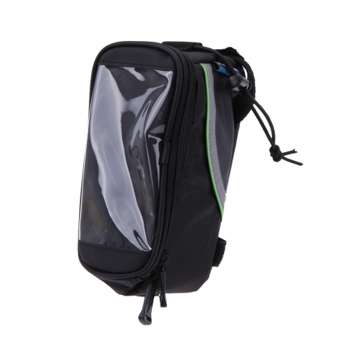 """Bike Bicycle Frame Front Tube Bag for Cell Phone 4.8"""" PVC GreenSports &amp; Outdoor<br>Bike Bicycle Frame Front Tube Bag for Cell Phone 4.8"""" PVC Green<br>"""