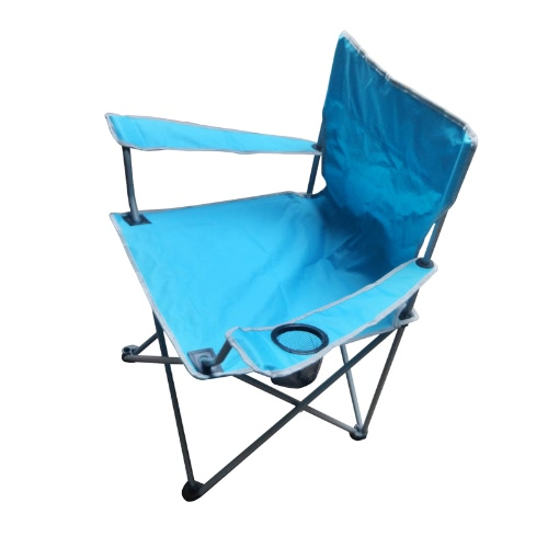 Portable Folding Oxford Cloth Arm Chair Outdoor Patio Fishing Camping With Cup Holder Carry Bag BlueSports &amp; Outdoor<br>Portable Folding Oxford Cloth Arm Chair Outdoor Patio Fishing Camping With Cup Holder Carry Bag Blue<br>