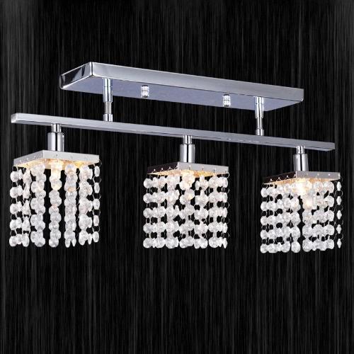 Crystal Chandelier with 3 Lights Lamp Ceiling Lighting - Linear Design 220-240VHome &amp; Garden<br>Crystal Chandelier with 3 Lights Lamp Ceiling Lighting - Linear Design 220-240V<br>