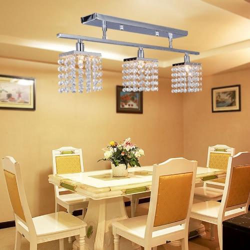 Crystal Chandelier with 3 Lights Lamp Ceiling Lighting - Linear Design 110-120VHome &amp; Garden<br>Crystal Chandelier with 3 Lights Lamp Ceiling Lighting - Linear Design 110-120V<br>