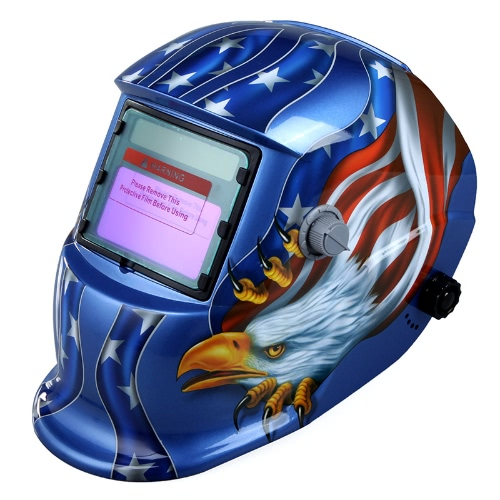 Solar Auto Darkening Welding Helmet Welders Mask Arc Tig Mig Grinding Eagle BlueTest Equipment &amp; Tools<br>Solar Auto Darkening Welding Helmet Welders Mask Arc Tig Mig Grinding Eagle Blue<br>