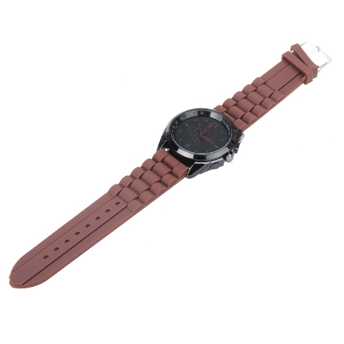 Men Women Stylish Silicone Strap Casual Wrist Watch Unisex CoffeeApparel &amp; Jewelry<br>Men Women Stylish Silicone Strap Casual Wrist Watch Unisex Coffee<br>