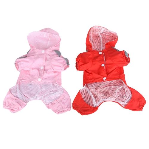 Pet Dog Raincoat Hoodie Hooded Waterproof Jacket Pet Clothes Apparel PinkHome &amp; Garden<br>Pet Dog Raincoat Hoodie Hooded Waterproof Jacket Pet Clothes Apparel Pink<br>