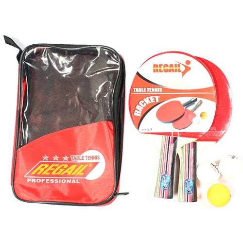 Table Tennis Set 2 Racket + 3 Ball + 1 Racket Pouch Long Handle Shake-hand Ping Pong Paddle RedSports &amp; Outdoor<br>Table Tennis Set 2 Racket + 3 Ball + 1 Racket Pouch Long Handle Shake-hand Ping Pong Paddle Red<br><br>Product weight: light tip heavy handle (defensive)g