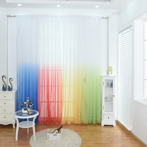 39 * 79inches Polyester Semi-Blackout Gradient Color Window Curtain Panel Living Room Bedroom Hotel Divider Voile Curtain with RodHome &amp; Garden<br>39 * 79inches Polyester Semi-Blackout Gradient Color Window Curtain Panel Living Room Bedroom Hotel Divider Voile Curtain with Rod<br>