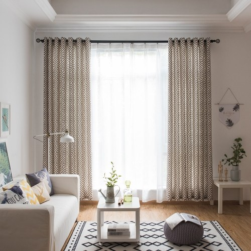 Fresh Maze Printing Pattern Decorative Curtain