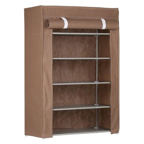 5-Tier Shoe Rack 15 Pairs Shoes Storage Organizer Cabinet