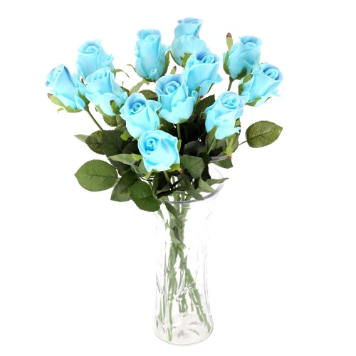 12PCS Artificial Rose Flower Soft PU Real-Like Simulation Rose Bouquet with Single Stem for Wedding Bridal Party Home Hotel DecoraHome &amp; Garden<br>12PCS Artificial Rose Flower Soft PU Real-Like Simulation Rose Bouquet with Single Stem for Wedding Bridal Party Home Hotel Decora<br>