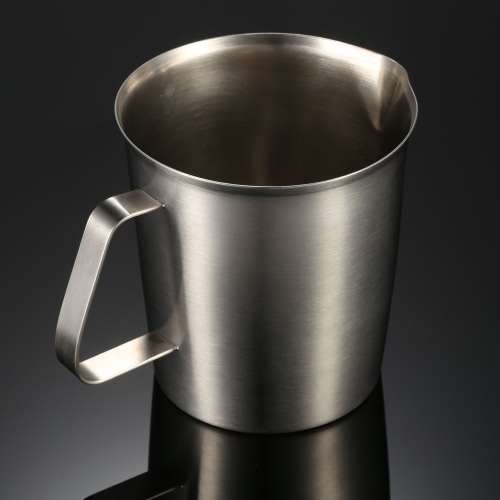 1500ML Stainless Steel Milk Pitcher Jug Milk Foam Container Measuring Cup Coffee Kitchen ToolSports &amp; Outdoor<br>1500ML Stainless Steel Milk Pitcher Jug Milk Foam Container Measuring Cup Coffee Kitchen Tool<br>