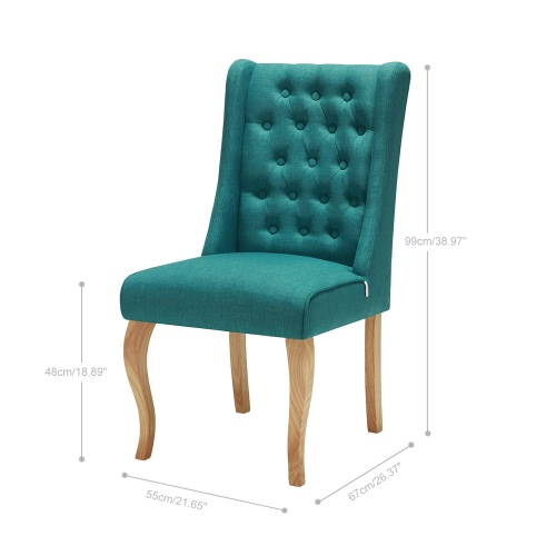 iKayaa Antique Style Tufted Kitchen Dining Chair Linen Fabric Accent Chair Upholstered Side Living Room Chair W/ Rubber Wood LegsHome &amp; Garden<br>iKayaa Antique Style Tufted Kitchen Dining Chair Linen Fabric Accent Chair Upholstered Side Living Room Chair W/ Rubber Wood Legs<br>
