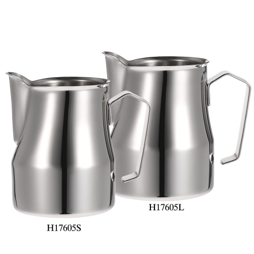 304 Stainless Steel Professional Italian Type Milk Frothing Pitcher Milk Foam Container Espresso Measuring Cups Coffe ApplianceHome &amp; Garden<br>304 Stainless Steel Professional Italian Type Milk Frothing Pitcher Milk Foam Container Espresso Measuring Cups Coffe Appliance<br>