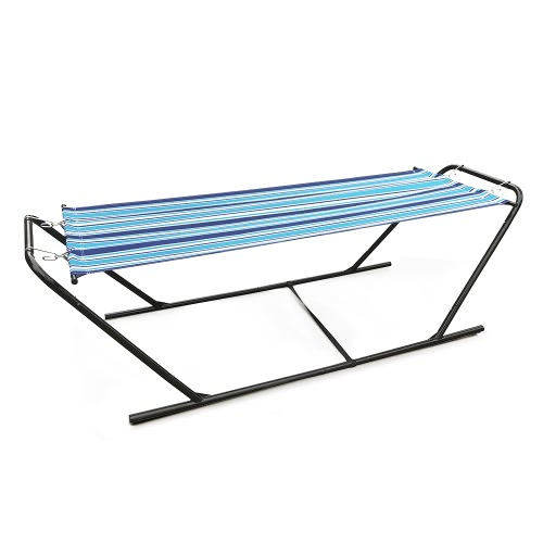 iKayaa Outdoor Garden Portable Hammock with Steel Stand Heavy-Duty 150KG Capacity Hanging Single Hammock for Camping BeachHome &amp; Garden<br>iKayaa Outdoor Garden Portable Hammock with Steel Stand Heavy-Duty 150KG Capacity Hanging Single Hammock for Camping Beach<br>