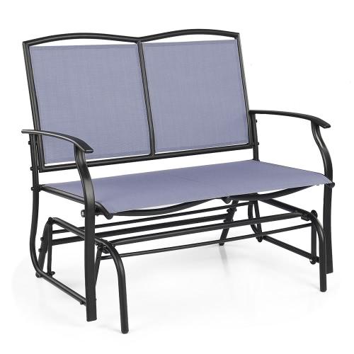 iKayaa 2 Person Patio Swing Glider Bench Chair Loveseat Textliene Garden Outdoor Rocking Chair Seating Steel FrameHome &amp; Garden<br>iKayaa 2 Person Patio Swing Glider Bench Chair Loveseat Textliene Garden Outdoor Rocking Chair Seating Steel Frame<br>