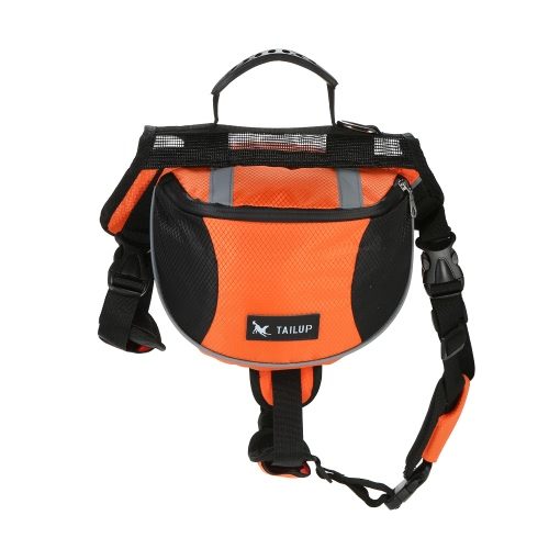 TAILUP Outdoor Pet Dog Adjustable Saddle Bag Backpack Medium Large Sized Dogs Harness Saddlebags for Hiking Training Camping TraveHome &amp; Garden<br>TAILUP Outdoor Pet Dog Adjustable Saddle Bag Backpack Medium Large Sized Dogs Harness Saddlebags for Hiking Training Camping Trave<br>