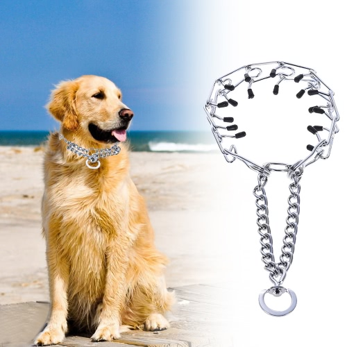 Adjustable Metal Dogs Prong Training Collar Stainless Steel with Chrome Plating for Medium Big Dog LHome &amp; Garden<br>Adjustable Metal Dogs Prong Training Collar Stainless Steel with Chrome Plating for Medium Big Dog L<br>