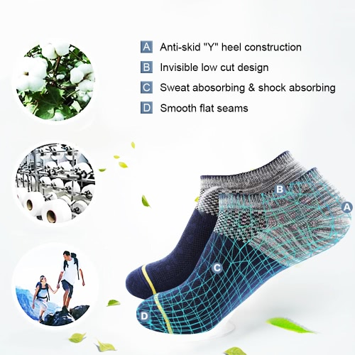 3 Pairs Mens Breathable Cotton Low Cut No Show Boat Socks Sport Running Cycling Athletic Ankle Socks for US 7.5-9.5 / UK 6.5-8.5Home &amp; Garden<br>3 Pairs Mens Breathable Cotton Low Cut No Show Boat Socks Sport Running Cycling Athletic Ankle Socks for US 7.5-9.5 / UK 6.5-8.5<br>