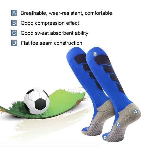 2 Pairs Mens Breathable Wicking Knee High Soccer Socks Sport Athletic Compression Football Socks for US 7.5-10.5 / UK 6.5-9.5 / EHome &amp; Garden<br>2 Pairs Mens Breathable Wicking Knee High Soccer Socks Sport Athletic Compression Football Socks for US 7.5-10.5 / UK 6.5-9.5 / E<br>