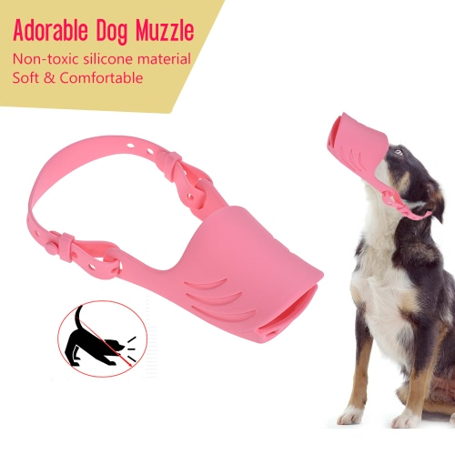Newest Anti Bite Biting Barking Dog Muzzle Mouth Cover Silicone Pig Mouth Shape with Adjustable Strap for Small and Medium DogsHome &amp; Garden<br>Newest Anti Bite Biting Barking Dog Muzzle Mouth Cover Silicone Pig Mouth Shape with Adjustable Strap for Small and Medium Dogs<br>
