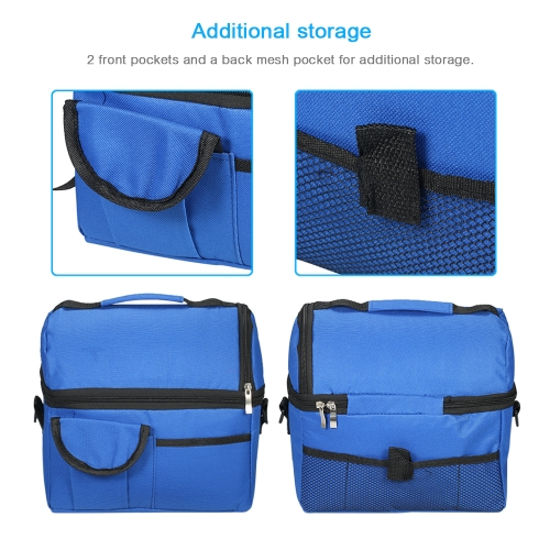 Esonmus Portable Double-Deck Leakproof Insulated Cooler Lunch Bag Baby Bottle Heat Insulation Tote Bag with Detachable Shoulder StHome &amp; Garden<br>Esonmus Portable Double-Deck Leakproof Insulated Cooler Lunch Bag Baby Bottle Heat Insulation Tote Bag with Detachable Shoulder St<br>