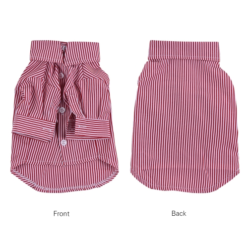 Premium Breathable Pet Dog Striped Shirt Clothes Underwear Gentleman Super Cute Puppy Costume Supplies Adopt for Soft CottonHome &amp; Garden<br>Premium Breathable Pet Dog Striped Shirt Clothes Underwear Gentleman Super Cute Puppy Costume Supplies Adopt for Soft Cotton<br>