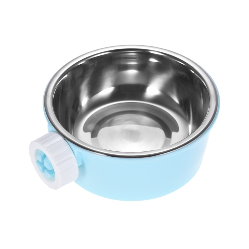 Pet Dog Cat Hamster Cage Hanging Bowl Non-slip Feeder Water Food Feeder Bowl Stainless Steel and Plastic DishHome &amp; Garden<br>Pet Dog Cat Hamster Cage Hanging Bowl Non-slip Feeder Water Food Feeder Bowl Stainless Steel and Plastic Dish<br>