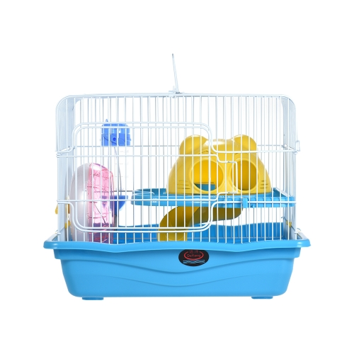 Small Animal Hamster Gerbil Mouse Rat Cage Habitat House Hideout Playground 2-story with Feeder Water Bottle Silent Wheel Ladder PHome &amp; Garden<br>Small Animal Hamster Gerbil Mouse Rat Cage Habitat House Hideout Playground 2-story with Feeder Water Bottle Silent Wheel Ladder P<br>