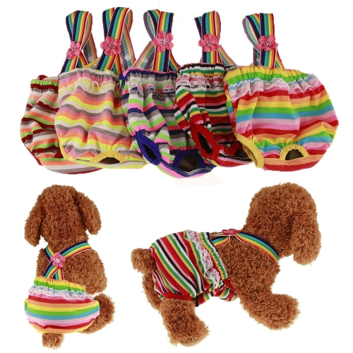 Colorful Comfortable Cosy Pet Dog Cotton Tighten Strap Sanitary Physiological Pants Pet Underwear DiapersHome &amp; Garden<br>Colorful Comfortable Cosy Pet Dog Cotton Tighten Strap Sanitary Physiological Pants Pet Underwear Diapers<br>