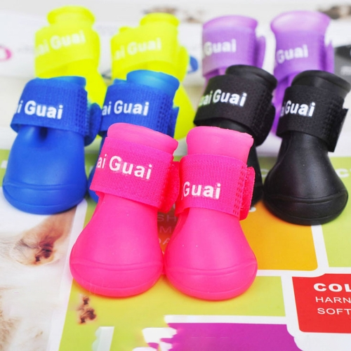 Dog Candy Colors Boots Waterproof Rubber Pet Rain Non-slip ShoesHome &amp; Garden<br>Dog Candy Colors Boots Waterproof Rubber Pet Rain Non-slip Shoes<br>