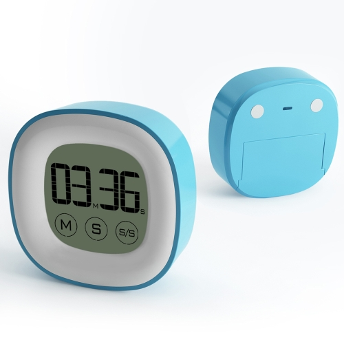 Touch Digital Timer Alarm Clock with Large LCD Screen Magnetic Function Minute Second Count Up Countdown Timer Time-Meter for CookHome &amp; Garden<br>Touch Digital Timer Alarm Clock with Large LCD Screen Magnetic Function Minute Second Count Up Countdown Timer Time-Meter for Cook<br>