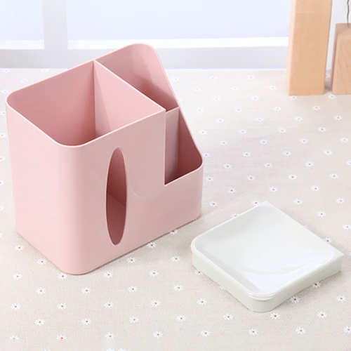 Simple Desktop Multifunctional Tissue Box Cover Living Room Office Sundries Makeup Cosmetics Remote Control Storage PinkHome &amp; Garden<br>Simple Desktop Multifunctional Tissue Box Cover Living Room Office Sundries Makeup Cosmetics Remote Control Storage Pink<br>