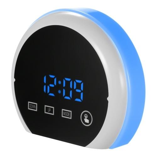 Цифровой светодиодный сенсорный зеркальный будильник