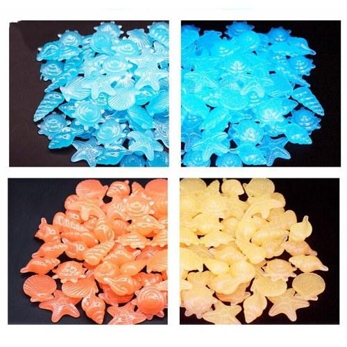 30pcs / sac bricolage décor à la maison lumineux étoile de mer conque coquille de mer