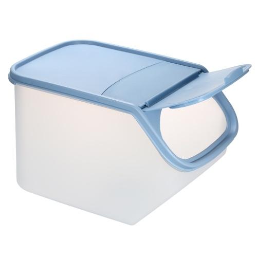 5L البلاستيك تخزين الأغذية بن مع غطاء الوجه العلوي مع كأس قياس