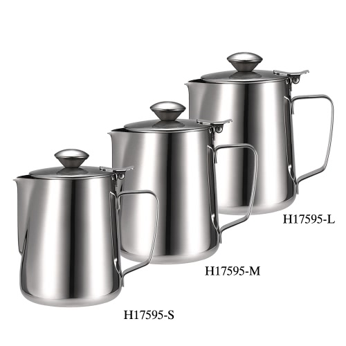 Stainless Steel Milk Frothing Pitcher Milk Foam Container Milk Cup Espresso Measuring Cups Coffe ApplianceHome &amp; Garden<br>Stainless Steel Milk Frothing Pitcher Milk Foam Container Milk Cup Espresso Measuring Cups Coffe Appliance<br>