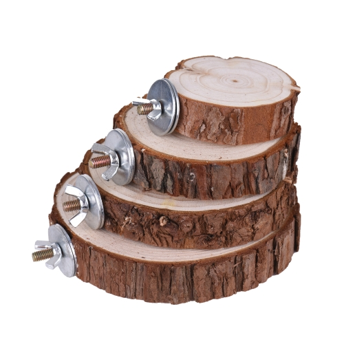 Bird Cage Accessories Pet Round Wooden Coin Jumping Platform Chew Toy for Parrot Parakeet Budgie Cockatiel Squirrel Hamster TotoroHome &amp; Garden<br>Bird Cage Accessories Pet Round Wooden Coin Jumping Platform Chew Toy for Parrot Parakeet Budgie Cockatiel Squirrel Hamster Totoro<br>
