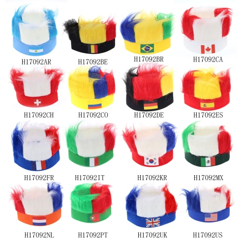 Anself America Flag Football Soccer Fans Wig Head Cap European Cup FIFA World Cup Sports Carnival Festival Cosplay CostumeHome &amp; Garden<br>Anself America Flag Football Soccer Fans Wig Head Cap European Cup FIFA World Cup Sports Carnival Festival Cosplay Costume<br>