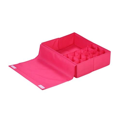 Multifunctional Waterproof Oxford Fabric Foldable Bra Underwear Storage Box Case Socks Ties Closet Drawer Organizer Container DiviHome &amp; Garden<br>Multifunctional Waterproof Oxford Fabric Foldable Bra Underwear Storage Box Case Socks Ties Closet Drawer Organizer Container Divi<br>