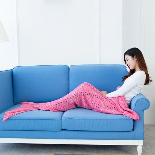 Fashion Beautiful Knitted Mermaid Tail Blanket Crochet Sleeping Bag 70.9 ? 35.4 Sofa Living Room for All Seasons AdultHome &amp; Garden<br>Fashion Beautiful Knitted Mermaid Tail Blanket Crochet Sleeping Bag 70.9 ? 35.4 Sofa Living Room for All Seasons Adult<br>