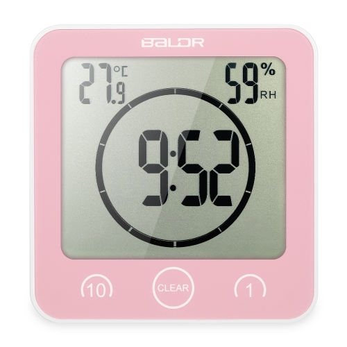 Multifunctional Digital Clock with Large Screen Display Time Temperature Humidity Excellent LCD Shower Clock with TimerHome &amp; Garden<br>Multifunctional Digital Clock with Large Screen Display Time Temperature Humidity Excellent LCD Shower Clock with Timer<br>
