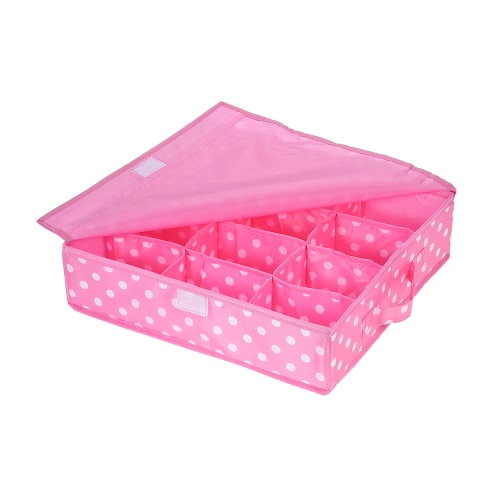 12-Comparment Waterproof Oxford Fabric Foldable Underwear Storage Box Case Ties Socks Closet Drawer Organizer Container with CoverHome &amp; Garden<br>12-Comparment Waterproof Oxford Fabric Foldable Underwear Storage Box Case Ties Socks Closet Drawer Organizer Container with Cover<br>