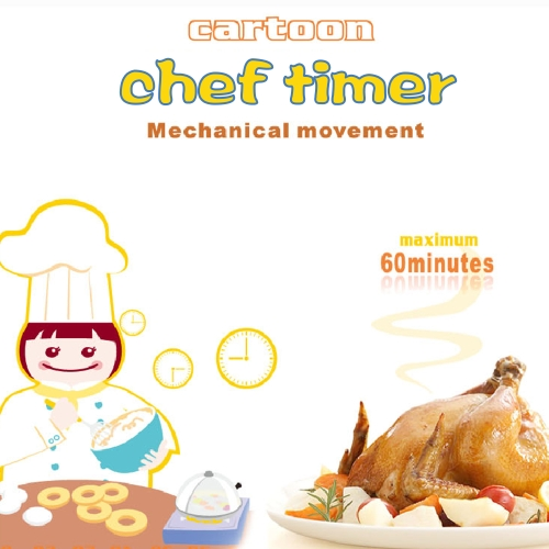 Creative Small Chef Machine Timer Plastic Countdown Timer Lovely Kitchen Cooking Student Homework TimerHome &amp; Garden<br>Creative Small Chef Machine Timer Plastic Countdown Timer Lovely Kitchen Cooking Student Homework Timer<br>