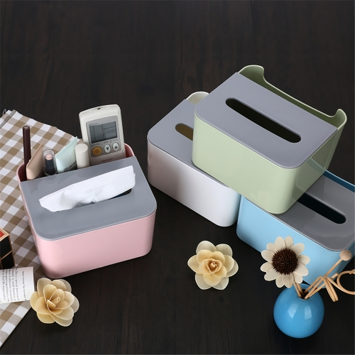 Multifunction Tissue Box Cover Lovely Napkin Holder Office Desktop Remote Control Makeup Cosmetics Storage Container Home Use WhitHome &amp; Garden<br>Multifunction Tissue Box Cover Lovely Napkin Holder Office Desktop Remote Control Makeup Cosmetics Storage Container Home Use Whit<br>